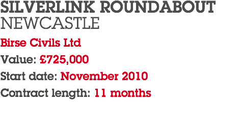 SILVERLINK ROUNDABOUT