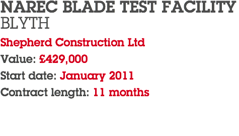 NAREC BLADE TEST FACILITY