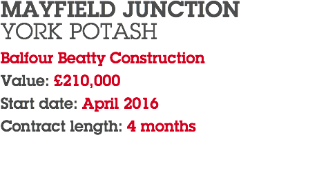 MAYFIELD JUNCTION