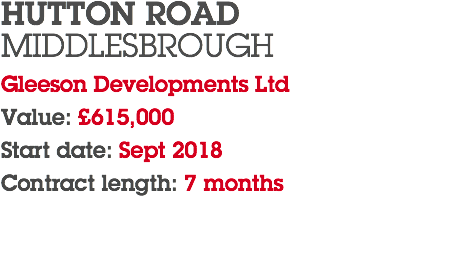 HUTTON ROAD
