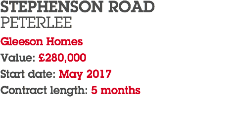 STEPHENSON ROAD