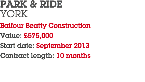 PARK & RIDE